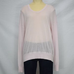 CAbi   Pink Long Sleeve Sweater M